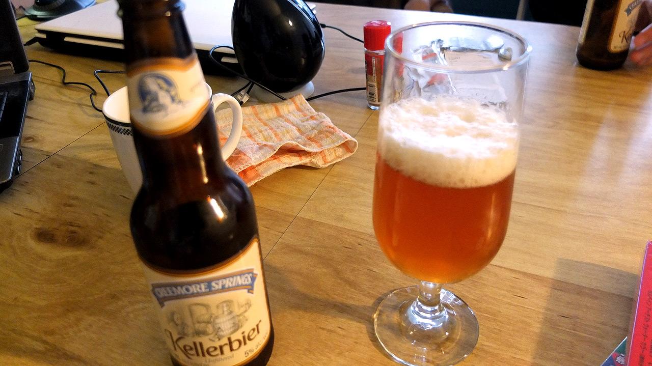 カナダのビールで乾杯