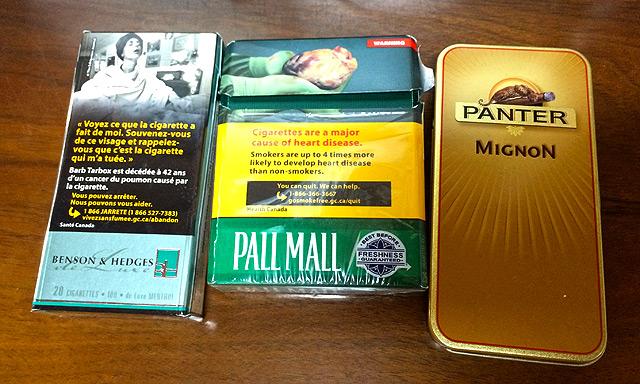 やっぱりカナダのタバコは高かった!