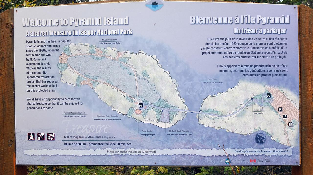 Pyramid Island(ピラミッドアイランド)の案内図。