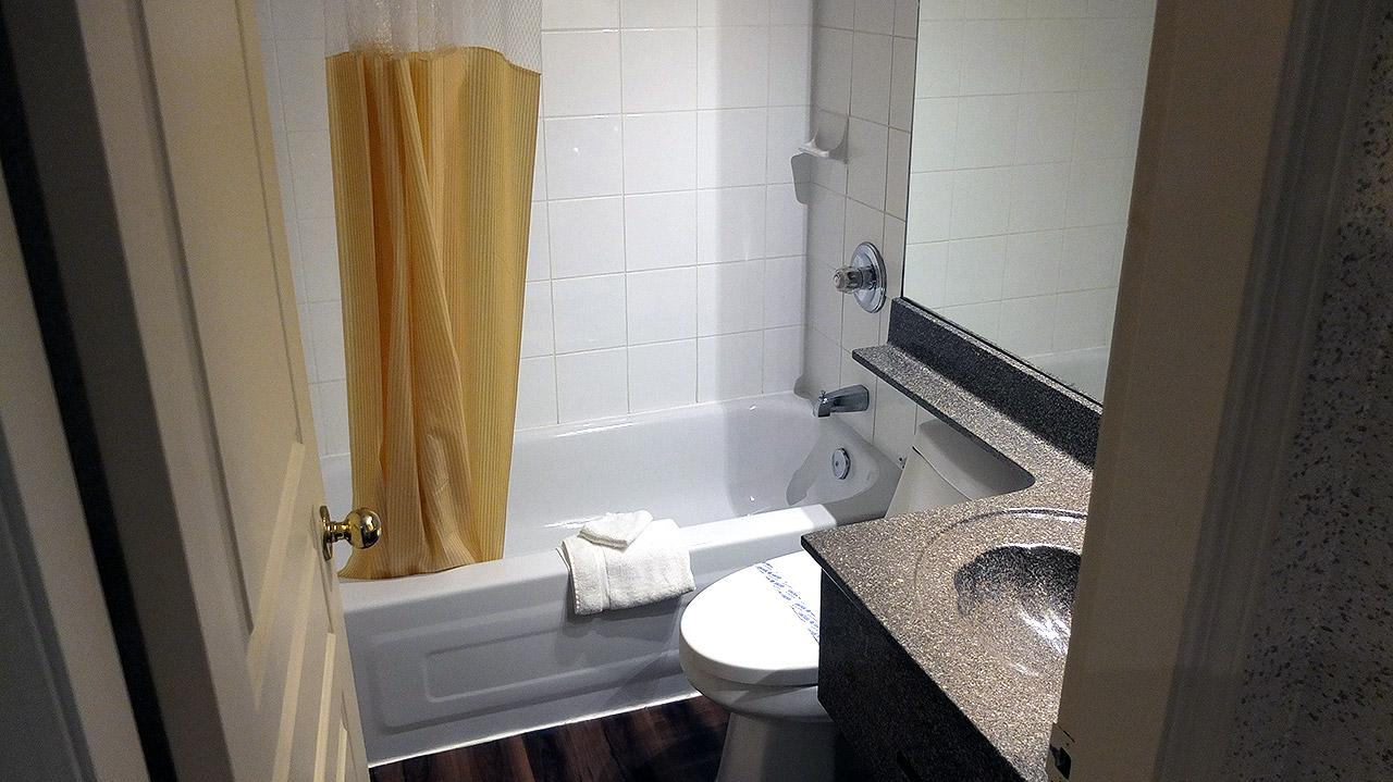 こちらはバスルーム。お湯が出ない!なんてことなく、こちらも清潔でした。