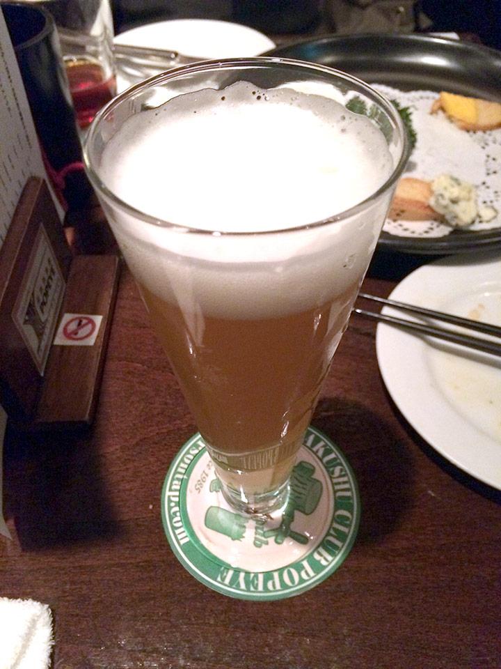 湘南ビール 大磯こたつみかんエール、だったはず・・・。シャンディガフのように何かで割っているのか?と思うほどさっぱりしたジュースのような味わい。