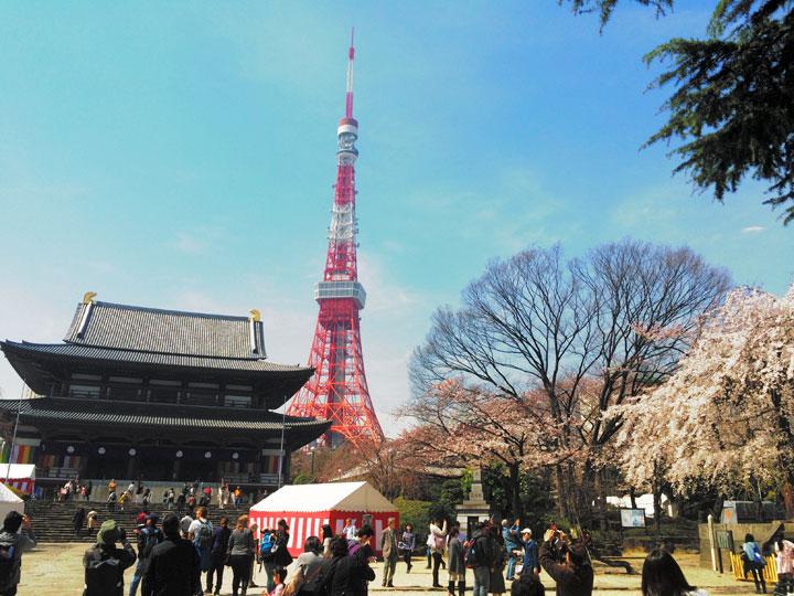 浜松町から大門を抜けて増上寺に到着!