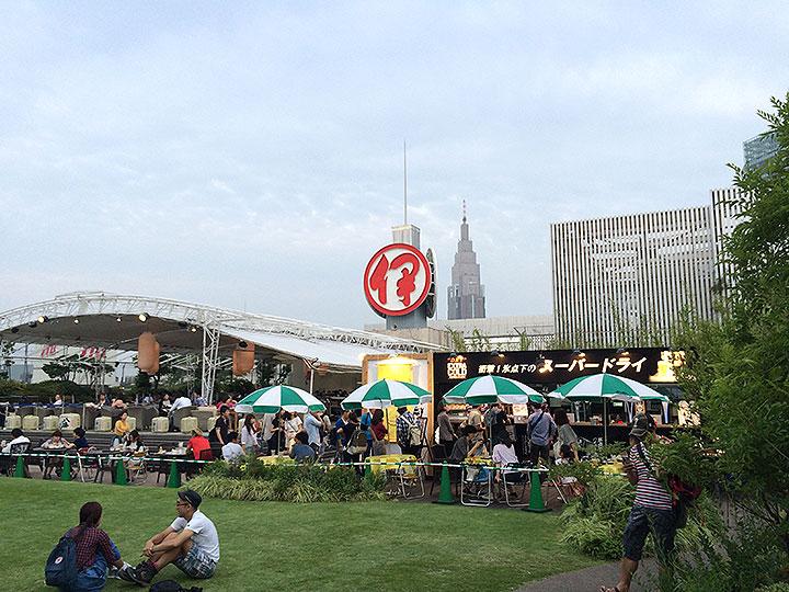 新宿伊勢丹屋上ビアガーデンで梅雨なのにビールと料理を満喫してきました