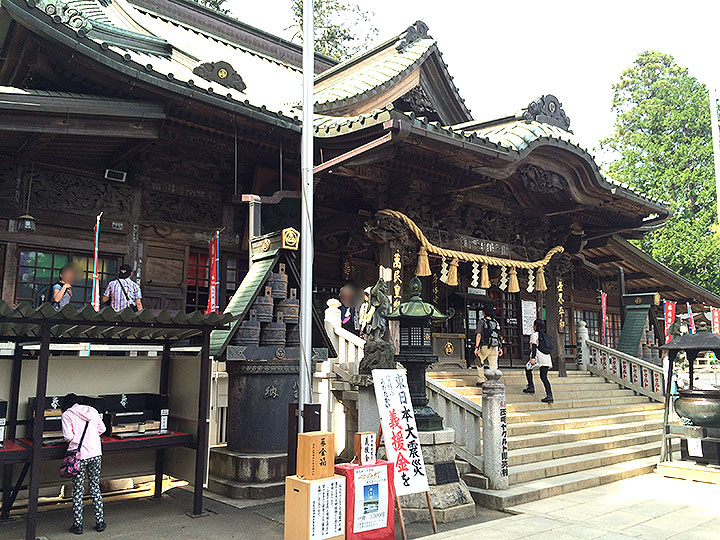 下山時は別のルートから、途中で「薬王院有喜寺」もあります。