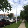ホステル付近のエドモントンの街並み。