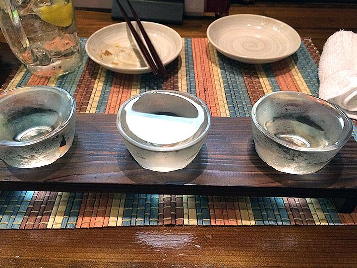 日本酒の3種類利き酒!