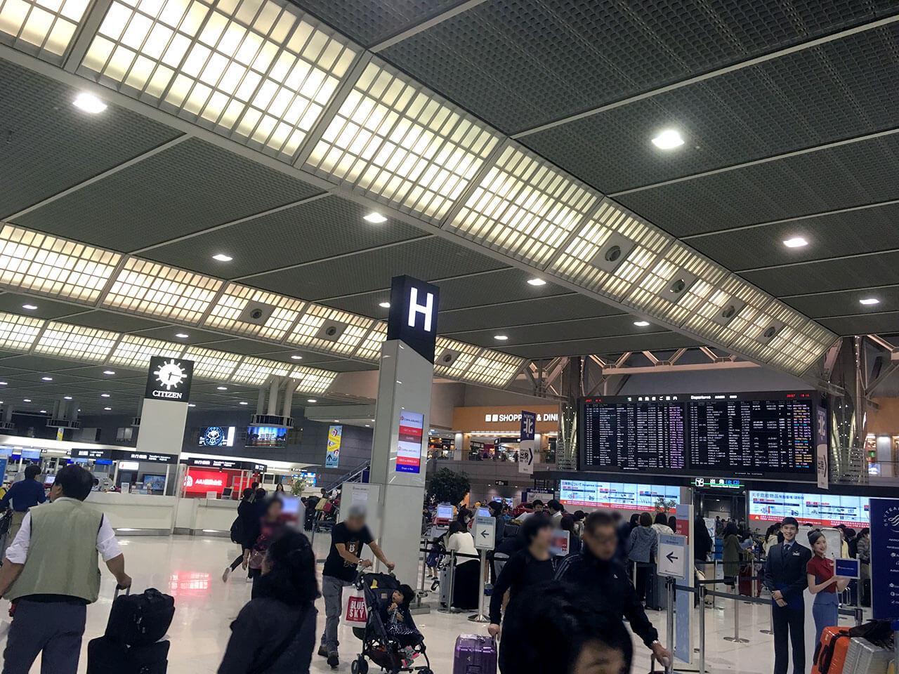 成田空港から出発してセブ島を目指します。