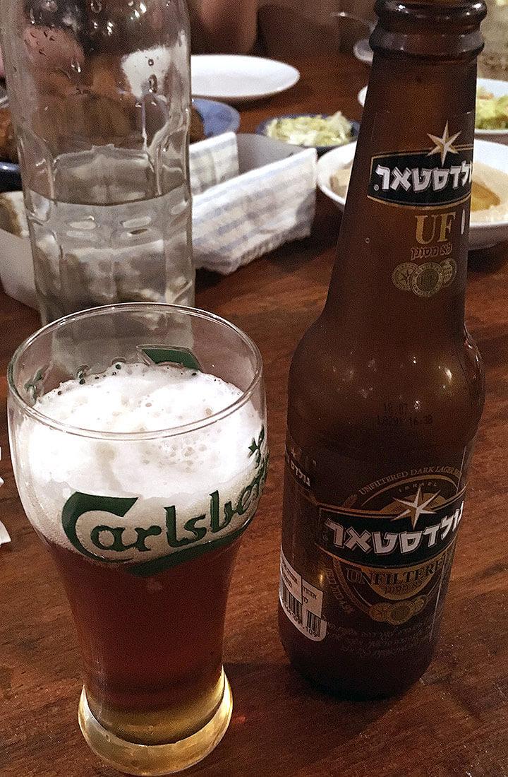 そしてイスラエルビールのゴールドスター。